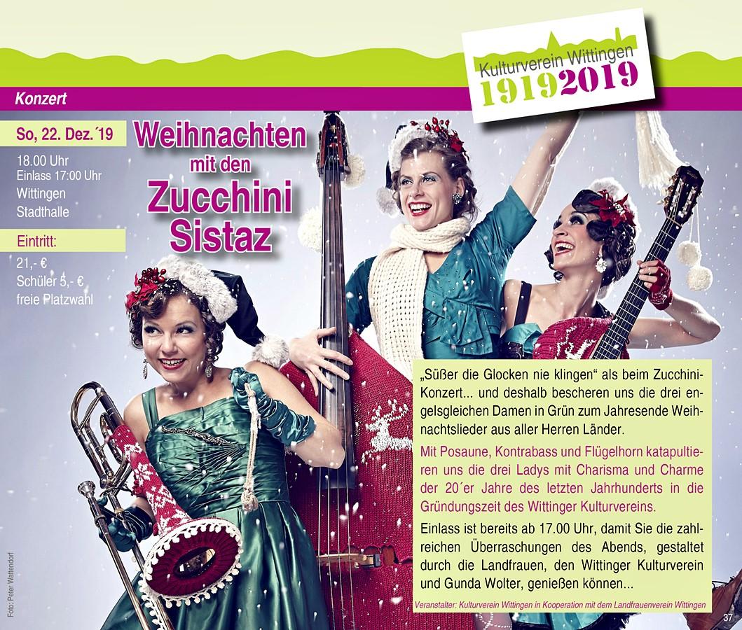 Konzerte Weihnachten 2019.Programm Kulturverein Wittingen E V